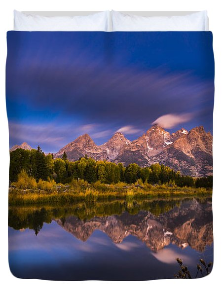 Time Stops Over Tetons Duvet Cover