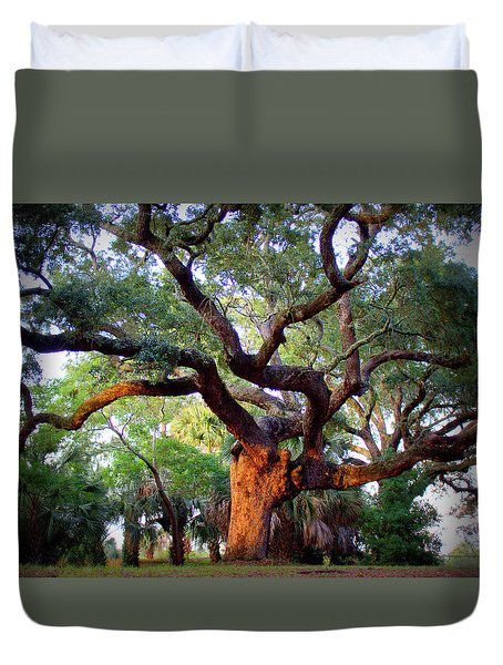 Time To Climb Duvet Cover by Faith Williams