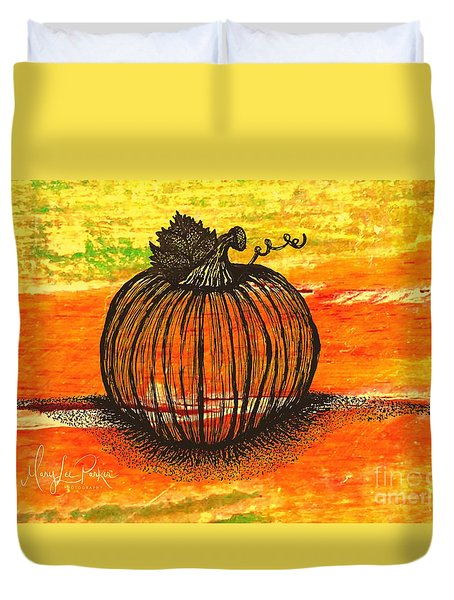 Time To Get Pumkin Duvet Cover