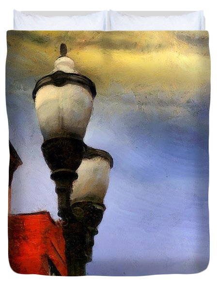Time To Light The Lamps Duvet Cover by RC deWinter