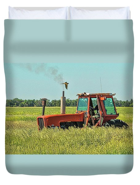 Time To Mow Duvet Cover