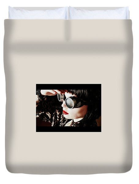Time Traveling Beauty Duvet Cover