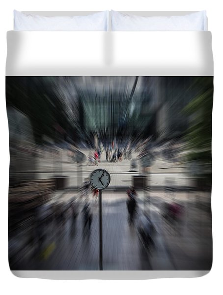 Time Traveller Duvet Cover by Martin Newman