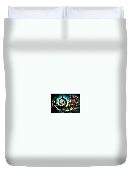 Toxic Time Duvet Cover