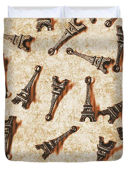 Time Worn Trinkets From Vintage Paris Duvet Cover