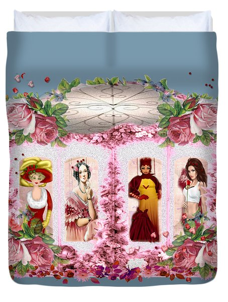 Time Window Duvet Cover