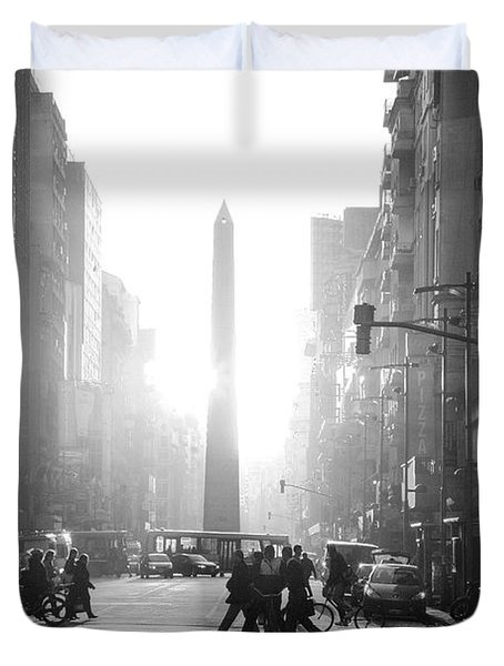 Duvet Cover featuring the photograph Timeless Buenos Aires by Bernardo Galmarini