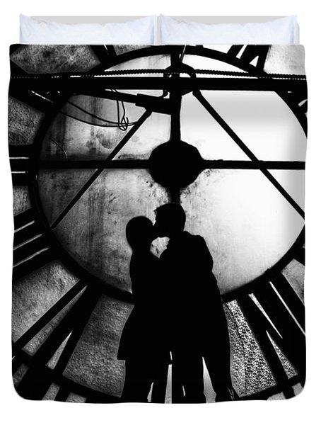 Timeless Love - Black And White Duvet Cover