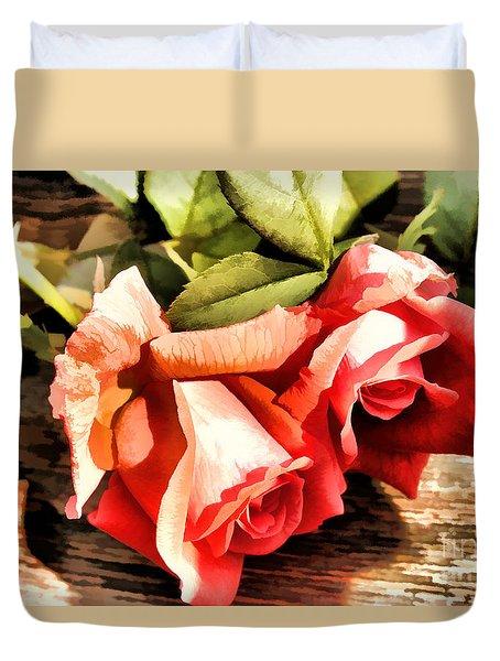 Timeless Tropicana Roses Duvet Cover