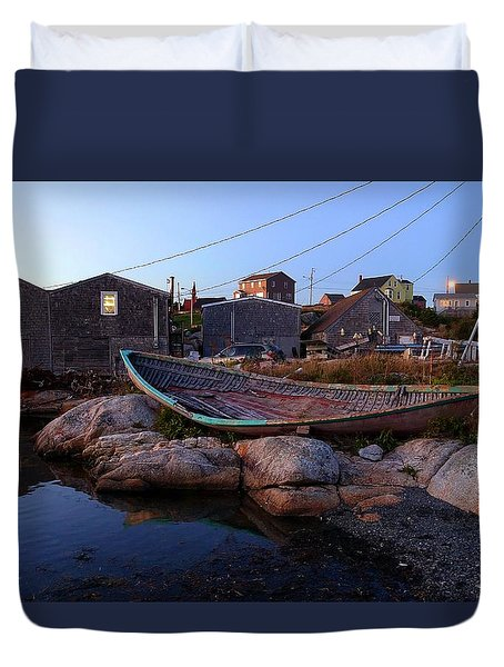 Peggy's Cove, Nova Scotia Duvet Cover