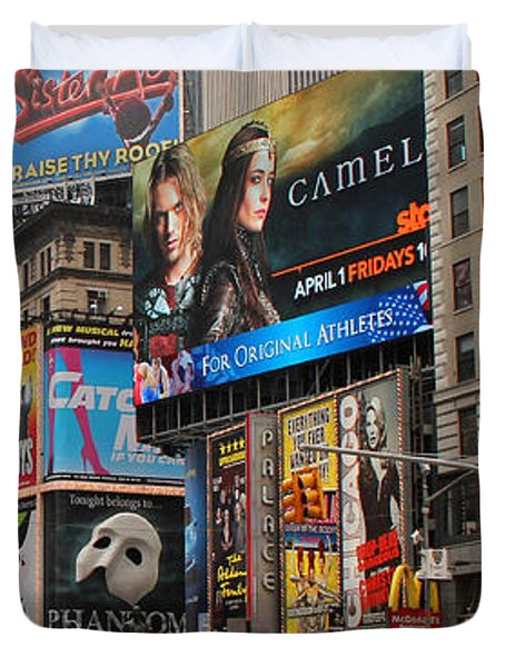 Times Square 4 Duvet Cover by Andrew Fare