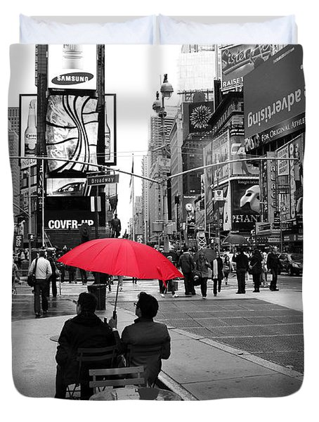 Times Square 5 Duvet Cover by Andrew Fare
