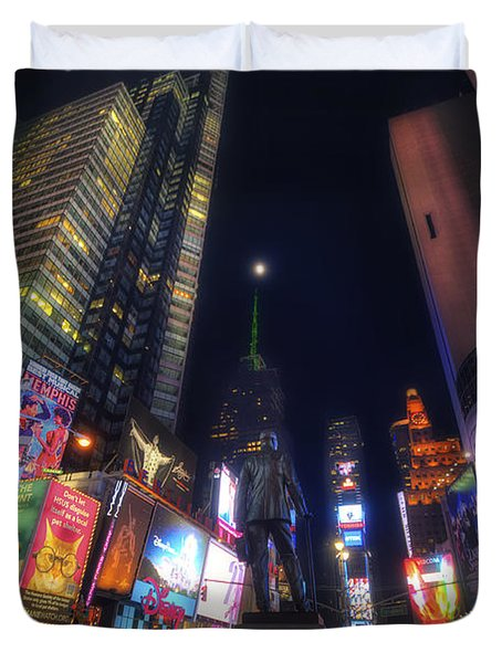 Times Square Moonlight Duvet Cover