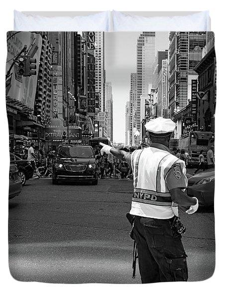 Times Square, New York City  -27854-bw Duvet Cover