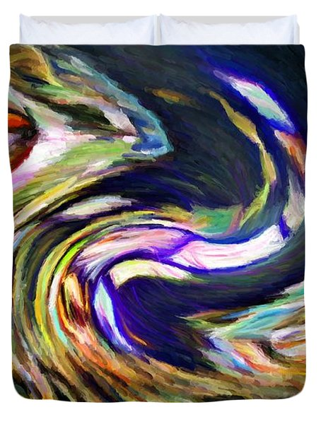Times Square Swirl Duvet Cover