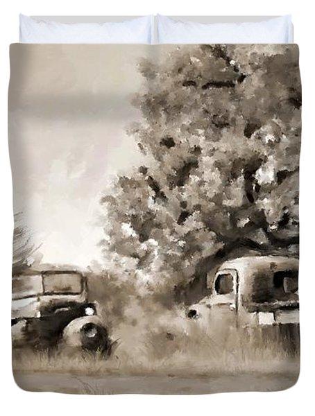 Timeworn Duvet Cover by Susan Kinney
