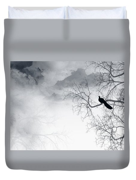 Duvet Cover featuring the digital art Timing Is Everything by Trilby Cole
