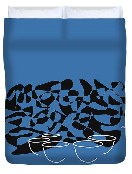 Timpani In Blue Duvet Cover