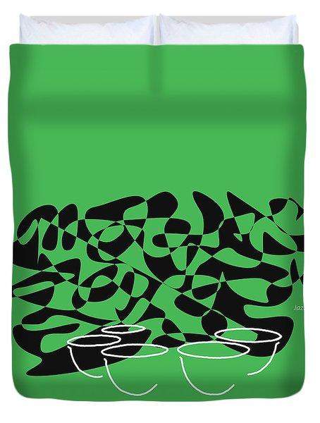 Timpani In Green Duvet Cover by David Bridburg