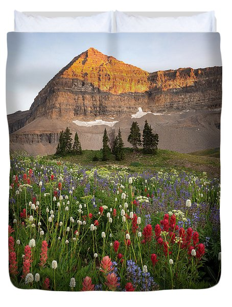 Timpanogos Bouquet Duvet Cover