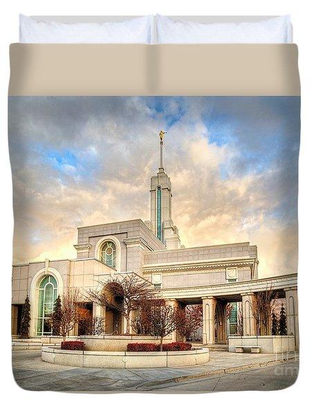 Timpanogos Temple Duvet Cover