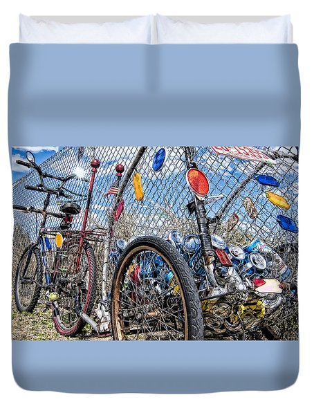 Tin Can Money Duvet Cover