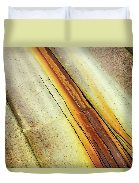 Tin Roof Abstract Duvet Cover