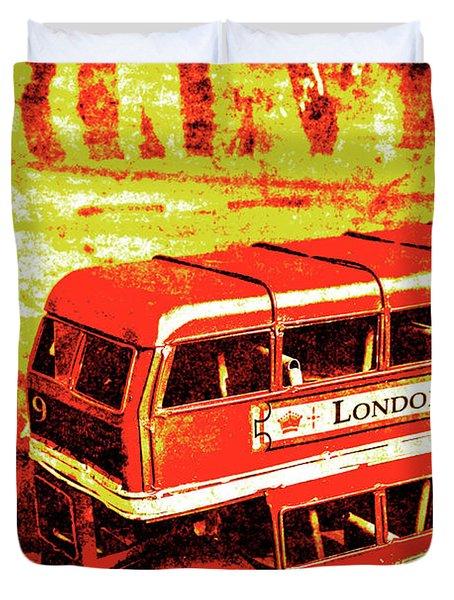 Tin Sign Travels Duvet Cover