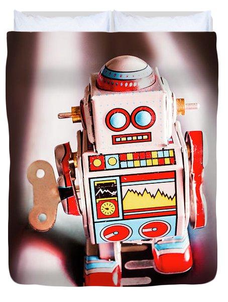 Tin Toys From 1980 Duvet Cover