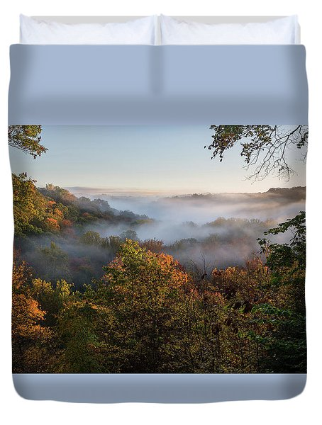 Duvet Cover featuring the photograph Tinkers Creek Gorge Overlook by Dale Kincaid