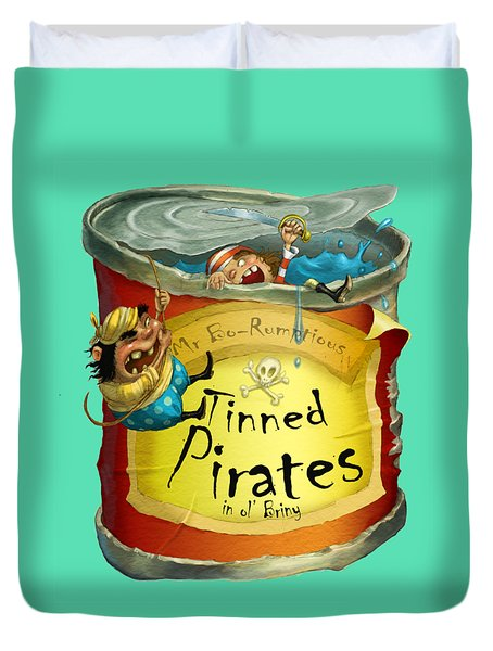 Tinned Pirates Duvet Cover
