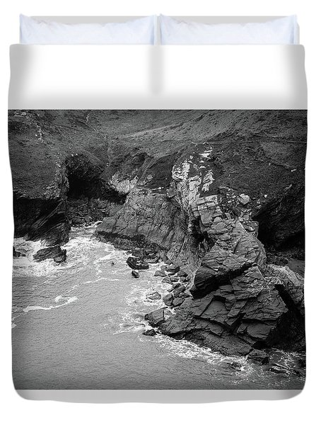 Tintagel Rocks Duvet Cover