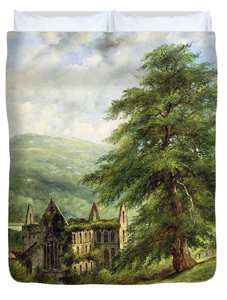 Tintern Abbey  Duvet Cover by Frederick Waters Watts