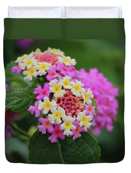 Duvet Cover featuring the photograph Tiny Bouquets by Rowana Ray
