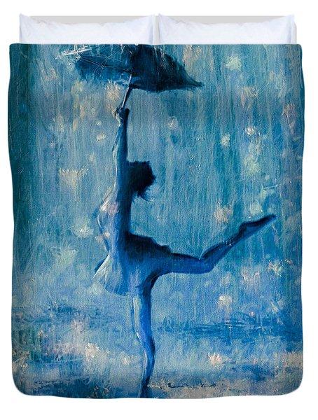 Tiny Dancer Duvet Cover by Mark Tonelli