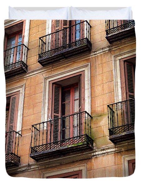 Tiny Iron Balconies Duvet Cover