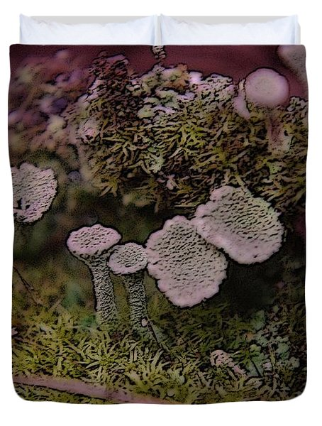 Tiny Mushrooms  Duvet Cover