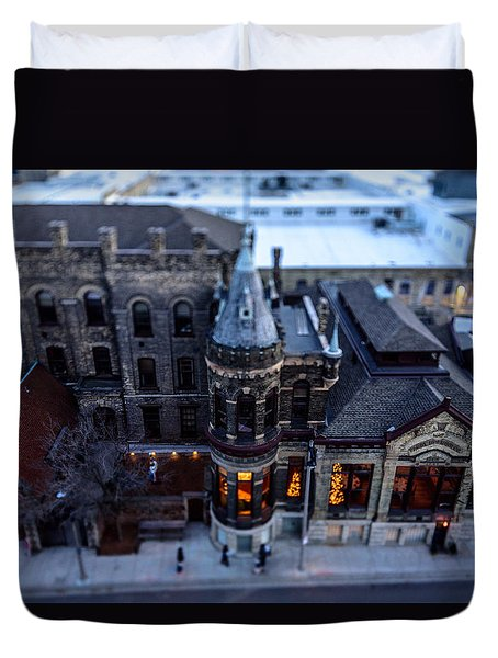 Tiny Pabst Castle Duvet Cover