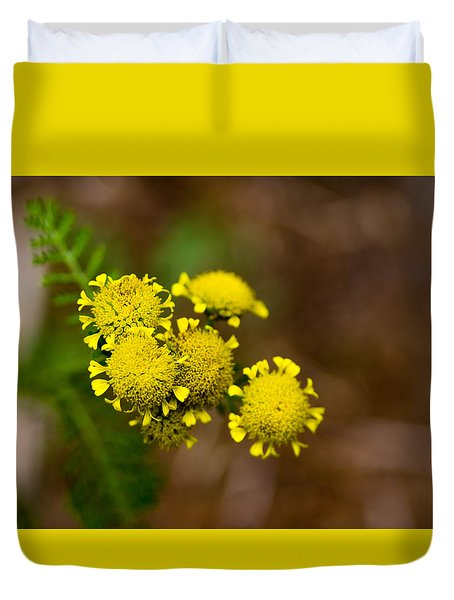 Duvet Cover featuring the photograph Tiny Petals by Erin Kohlenberg