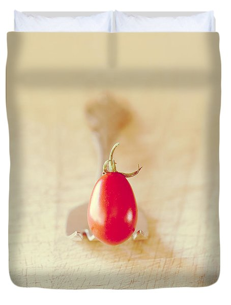 Tiny Tomato Duvet Cover