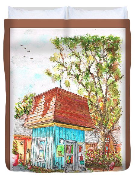 Tiny Tree Boutique In Los Olivos, California Duvet Cover