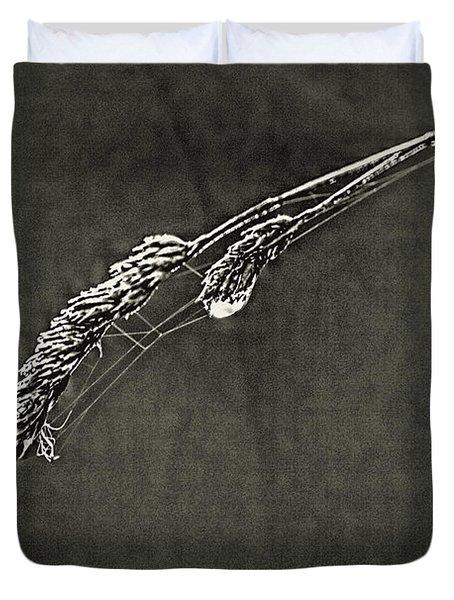 Tiny Web On Bent Grass Duvet Cover