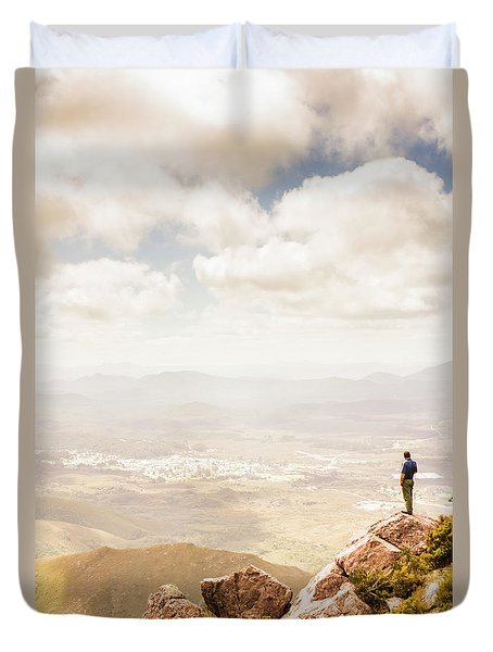 Tip Of Mt Zeehan Tasmania  Duvet Cover
