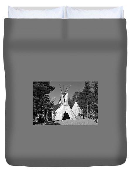 Tipis In Black Hills Duvet Cover