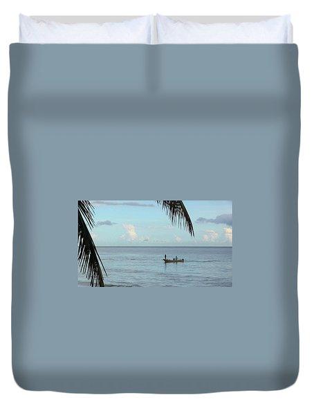 Tips Of Palms Duvet Cover
