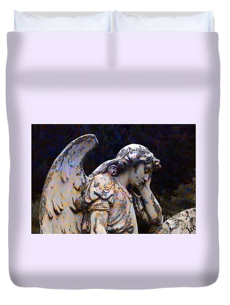 Tired Angel Duvet Cover