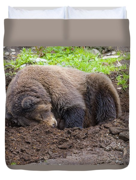 Tired Duvet Cover