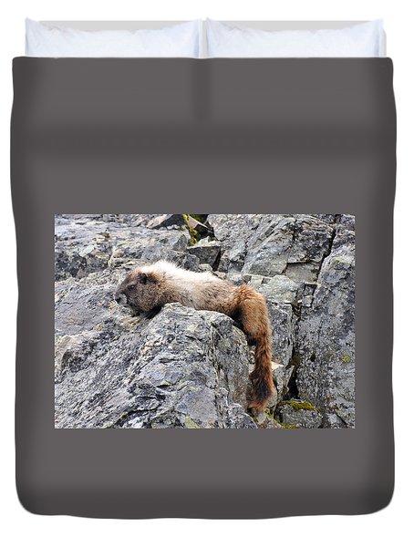 Tired Marmot Duvet Cover