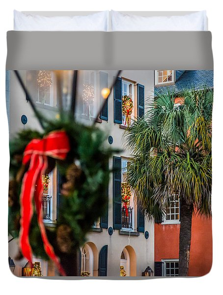 Tis The Season - Charleston Sc Duvet Cover