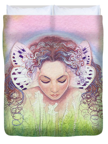 Duvet Cover featuring the painting Titania by Ragen Mendenhall